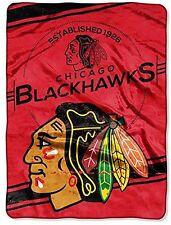 Licensed NHL Chicago Blackhawks Hockey Super Soft Plush Twin Size Throw Blanket