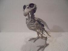 "7"" Poseable Crow Fossil Skeleton Prop Halloween Decoration Fake Raven Parrot"