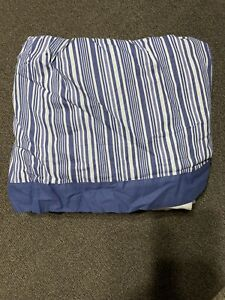 """Madison Collection Queen Size Toile Garden Bedskirt 60""""x80"""" 15"""" Drop Blue Multi"""