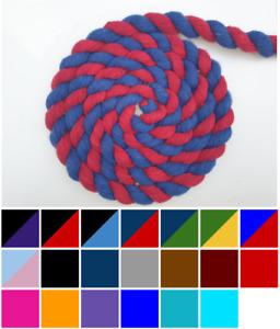Single/ Two-Tone Lead Rope 2m (Horse, Pony, Dog, Bulk, Trade, Colourful)
