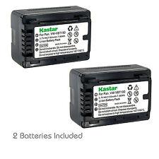 2x Kastar Battery for Panasonic VW-VBT190 VX981K HC-W580 W580K HC-W850