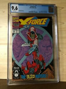X-Force #2 (Sep 1991, Marvel) CGC 9.6 2nd app Deadpool 1st app Weapon X