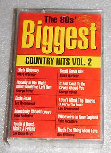 80s Biggest Country Hits Vol 2 Audio Cassette 1992 George Strait Reba McEntire