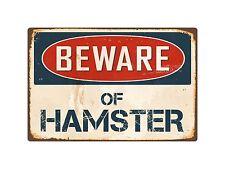 "Beware Of Hamster 8"" x 12"" Vintage Aluminum Retro Metal Sign VS202"