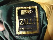 ZILLI made in France - jupe en cuir d'agneau - Leather Skirt -  Leder Rock T40