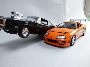Ertl 1:18 1995 Fast and Furious Toyota Supra Paul Walker Dominic Racing Toy Car