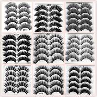5 Pairs SKONHED 3D Mink Hair Long False Eyelashes Wispy Cross Lashes Extension
