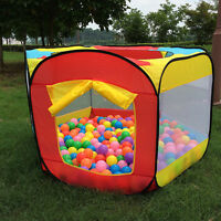 Kids Baby Play Hut Playhouse Pop Up Tent Children Ball Pool Pit Indoor Outdoor