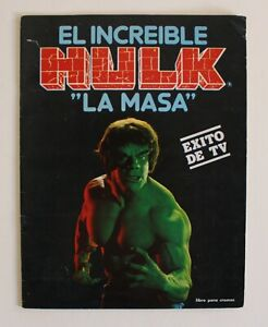 1981 THE INCREDIBLE HULK Spanish Vintage Trading Cards Album 100% Complete! Fher