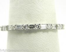 Sharp .75 Ct. Ladies Round & Baguette 18k Eternity Diamond Wedding Band