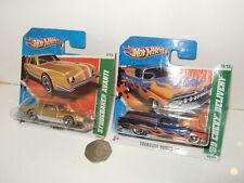 Hot Wheels 55/244 Studebaker Avanti  & 65/244 ,59 Chevy Delivery, Treasure Hunts