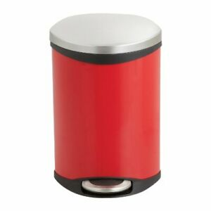 """Safco Ellipse Hands Free Step-on Receptacle - 3 Gal Capacity - 17"""" Height X 12"""""""