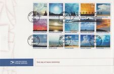 USPS First Day Ceremony Program #3878 a-o Cloudscapes Weather Block/15 2004