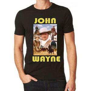 JOHN WAYNE  BLACK COLOUR T SHIRT ALL SIZES AND COLOURS FATHERS DAY
