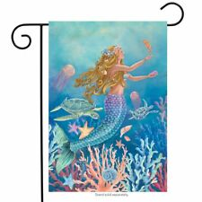 "Mermaid Summer Garden Flag Nautical Fish 12.5"" x 18"" Briarwood Lane"