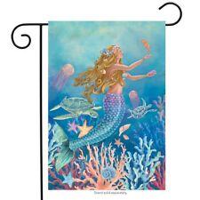 "Mermaid Summer Garden Flag Nautical Fish 12.5"" x 18"" Briarwood Lane"