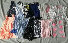 18 Piece Baby Girls 6 Months Lot Dresses Shirt Bodysuits Sleep And Play