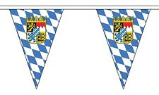 BAVARIA WITH CREST 20 metre TRIANGLE BUNTING 30 FLAGS flag TRIANGULAR 54 FLAGS