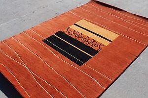 R17335 Gorgeous Contemporary Tibetan Woolen Rug 5.1' X 6.9' Handmade in Nepal