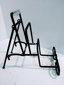 Sylvestri 3 tier Black Wrought Iron Plate/Setting Display (Plates not incl). NWT
