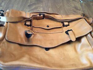 """Light Brown 17"""" X 12"""" Messenger Bag/Laptop Carrier"""