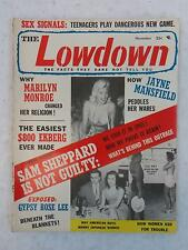 Vintage THE LOWDOWN Magazine Nov. 1957 MARILYN MONROE Sinatra JAYNE MANSFIELD