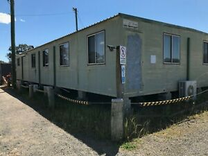Portable office building 18 x 9 with air conditioners , office furniture