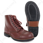American Service Shoes - Leather Low Boot US Army WW2 Repro 1939 Brown All Sizes
