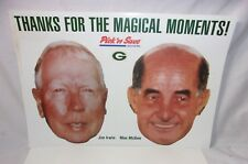 Green Bay Packers Radio Broadcast Jim Irwin & Max McGee Masks Pick n Save   T*