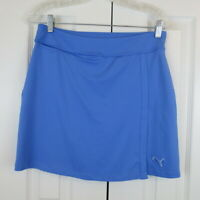 Puma Women's Solid Knit Skirt Sz XS Blue Skort Skirt Shorts Golf Tennis