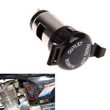 Car Motorcycle 12V-24V Metal Cigarette Lighter Socket Power Plug Outlet Female