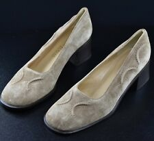 Bottega Veneta Women's Super Cute Beige Suede Heels Shoes Size 8.5 B New
