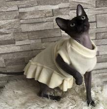 Warm Fleece Fabric Clothes/ Dress for Sphynx cat, Devon Rex Cats
