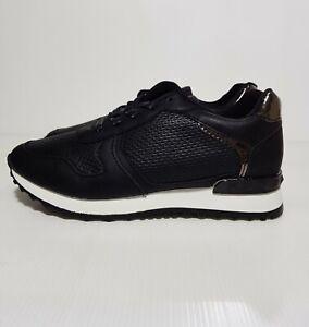 New Women's Shoes Sneakers Black Shinny Details Lace Up EU 38 / US 7.5 / UK 5