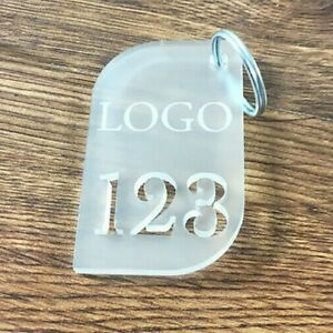 Hotels  Engraved  Key Fobs Personalised Tags Acrylic  - Pubs B&B Luggage Garage
