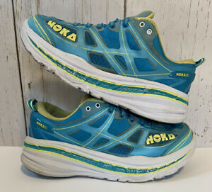 Hoka One One Stinson 3 Womens Blue Running Casual Shoes Ladies Size 9.5