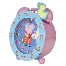 Peppa Pig Time Teaching réveil Rose Bleu Garçons Filles Gratuit P + P