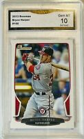 BRYCE HARPER ROOKIE 2013 TOPPS CARD #150 GMA GRADED GEM 10 WASHINGTON NATIONALS