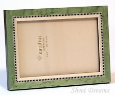 Natalini MIKY Green Hand Made in Italy Marquetry 4x6 Photo Picture Frame New