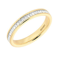 0.35CT Baguette Cut Diamonds Half Eternity Wedding Ring in 18K Yellow Gold