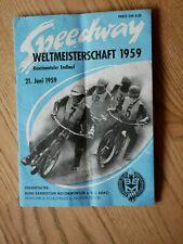Speedway Weltmeisterschaft 1959, Kontinentaler Endlauf vom BBM