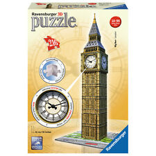 Ravensburger 3D Big Ben with Clock 216 Piece Puzzle NEW
