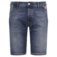 Roy Roger's - Bermuda jeans tasca a filo denim medio slim per uomo
