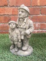 SALE! Victorian Tradesman Miner and Boy Garden Ornament - Latex Mould/Mold
