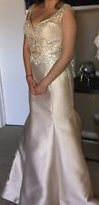 Champagne prom dress two piece formal gown size Medium