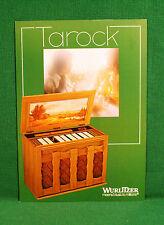 Original Wurlitzer Tarock Jukebox Brochure, Lovers