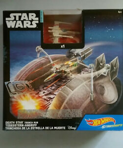 Star Wars Death Star Trench Run Hot Wheels Starships Rogue One Play Set Die-Cast