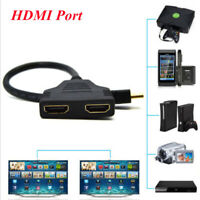 1080P HDMI Port Cable 1 Male To Dual 2 Female Y Splitter Adapter Converter 30cm