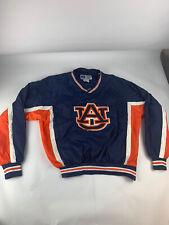 Vintage Russell Athletic Auburn University Rain Jacket Pullover Navy Orange L