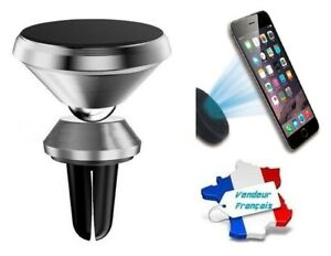 Support Magnétique Aimanté Universel Grille Ventilation Voiture pour Téléphone